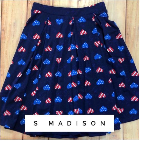 LuLaRoe Dresses & Skirts - LuLaRoe Red, White, and Blue Madison